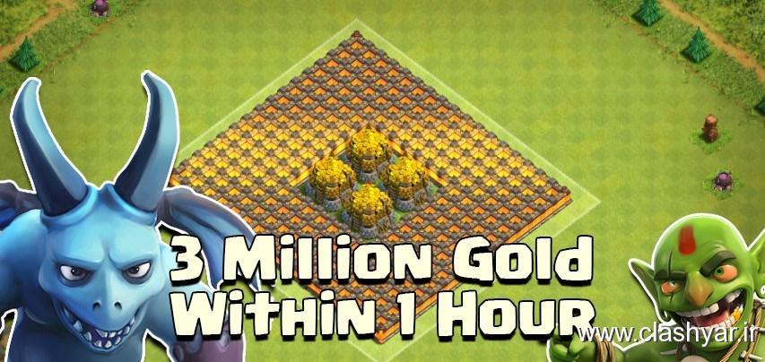 3 میلیون طلا در یک ساعت بدست آورید